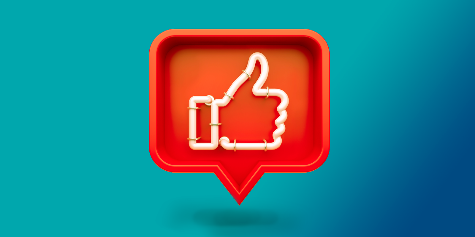 Social media thumbs up icon