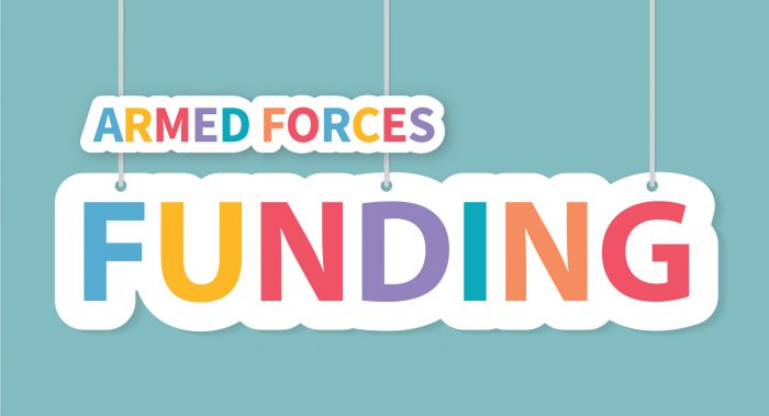Armed Forces Funding signage