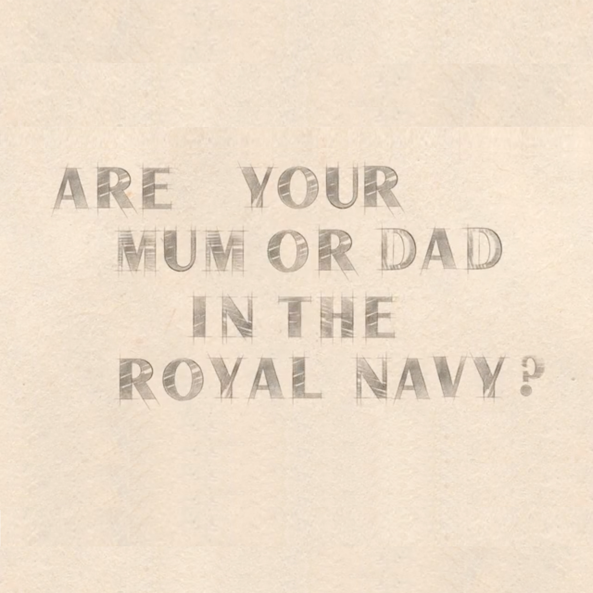 Are your mum or dad in the Royal Navy? - A still from the recruitment video